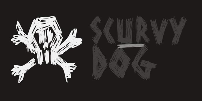 DK Scurvy Dog Font poster