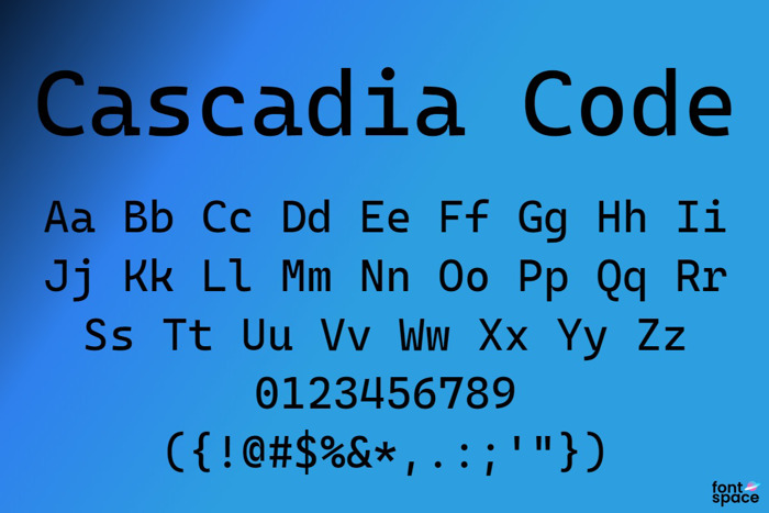 Cascadia Code Font poster