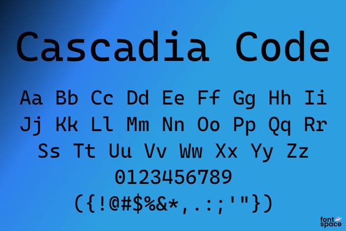 Cascadia Code poster