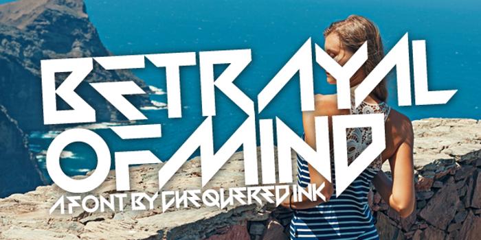 Betrayal of Mind Font poster