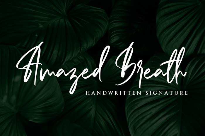 Amazed Breath Font poster