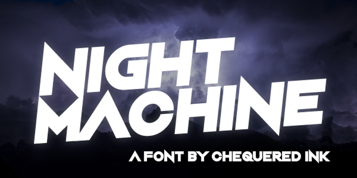 Night Machine Font poster
