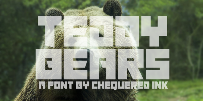 Teddy Bears Font poster
