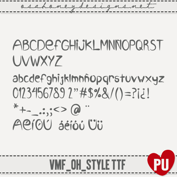 VMF_Style_ttf Font poster