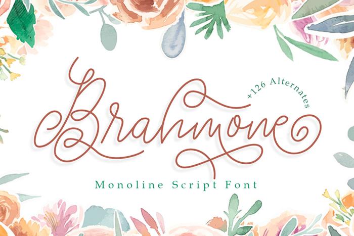 Brahmone Font poster