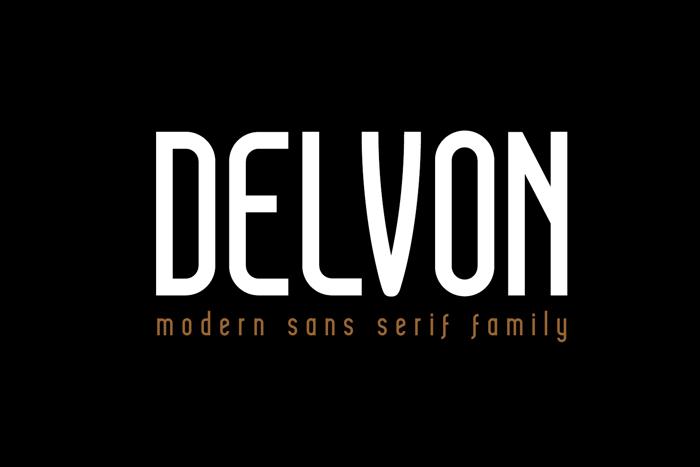 DELVON Font poster