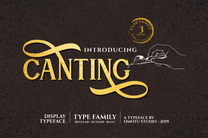 Canting Regular Font poster