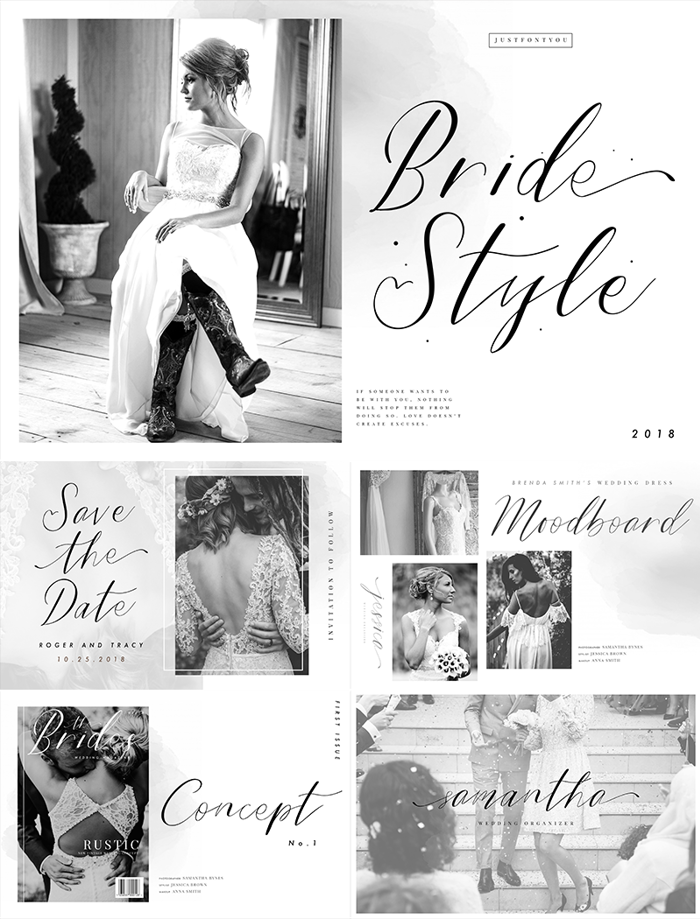 Bride Style Font poster