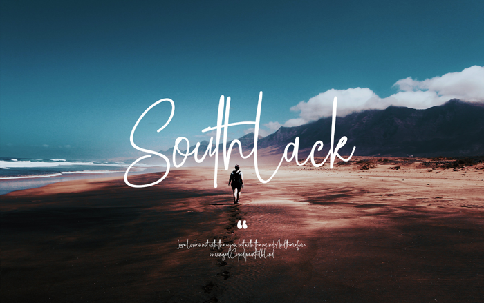 Southlack Font poster