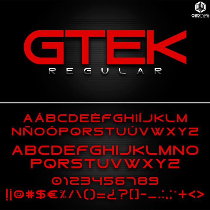 Gtek Regular Font poster