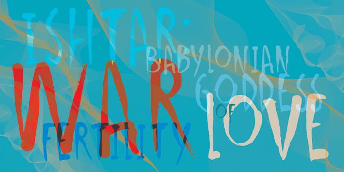 DK Ishtar Font poster