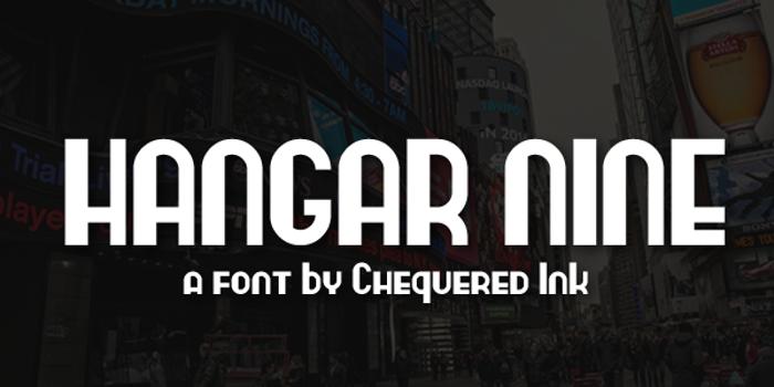 Hangar Nine Font poster