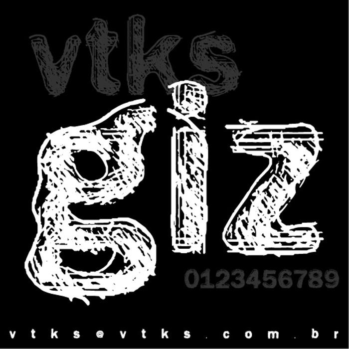 vtks giz Font poster