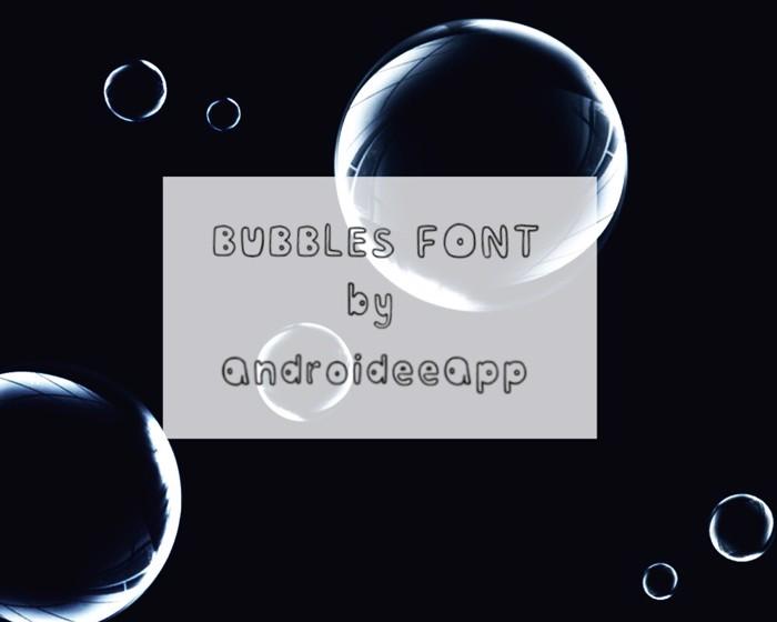 Bubblesfont Font poster