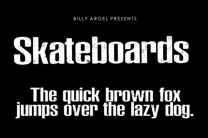 Skateboards Font poster