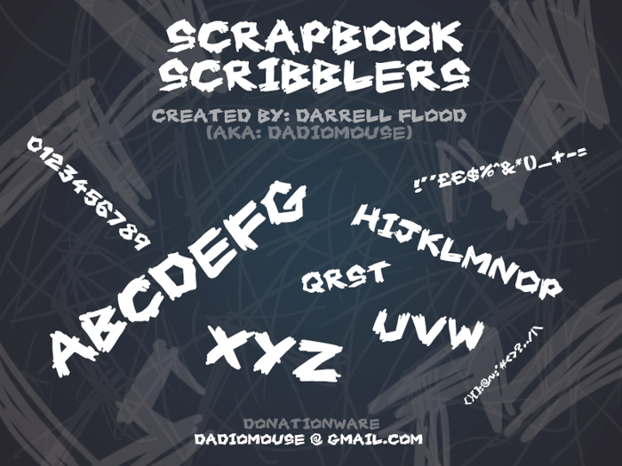 Scrapbook Scribblers Font poster