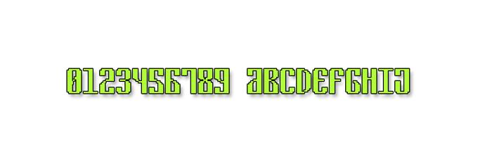 Cyrillic Pixel-7 Font poster