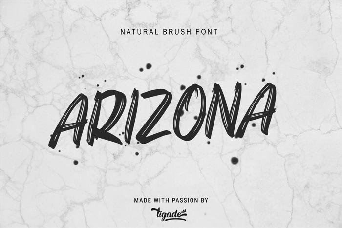 Arizona Font poster