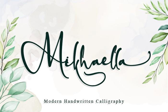 Mikhaella Font poster