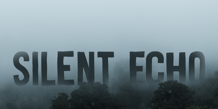 Silent Echo DEMO Font poster