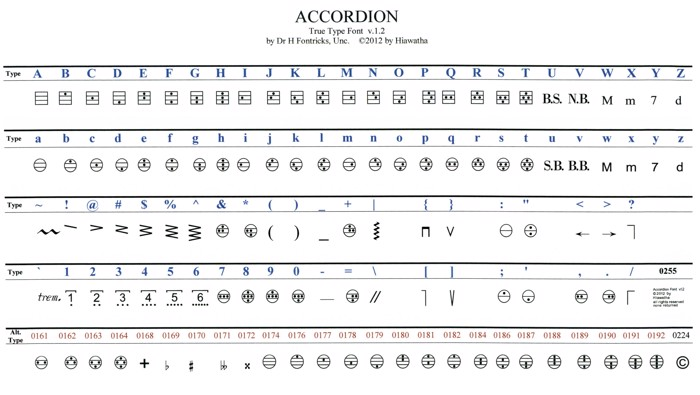 Accordion Font poster