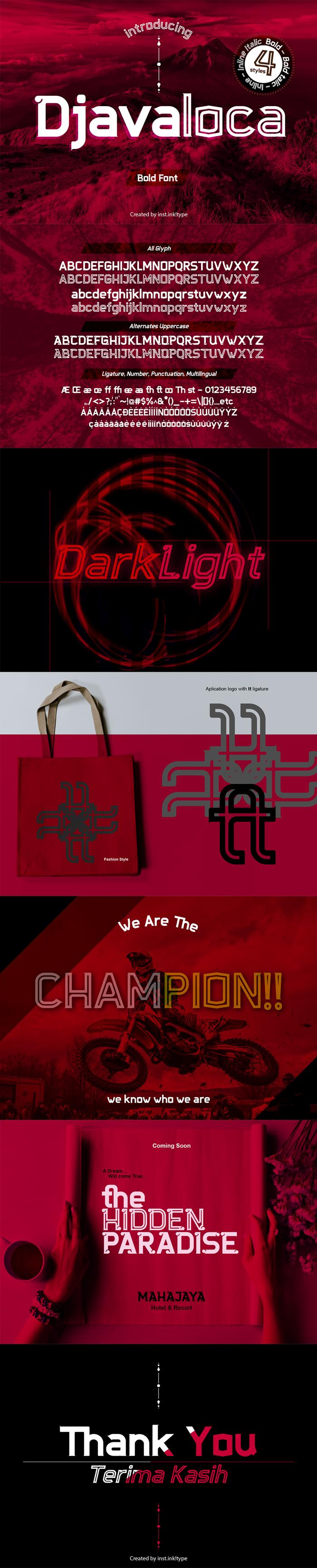 Djavaloca Font poster
