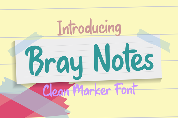 Bray Notes Font poster
