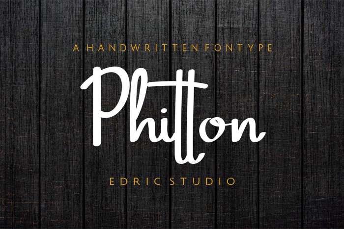Phitton Font poster