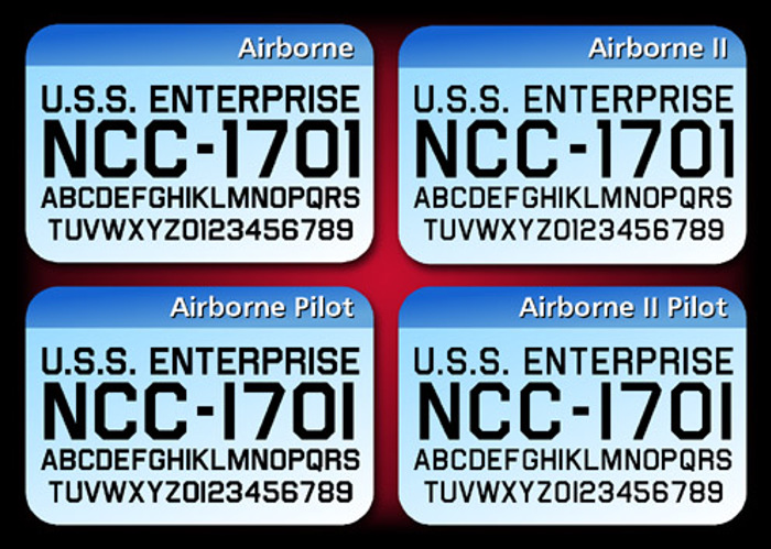 Airborne Font poster