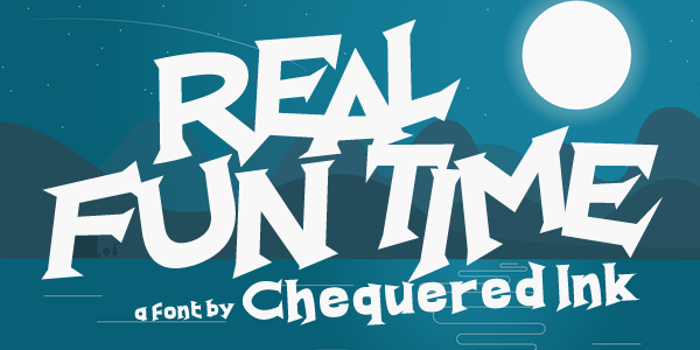 Real Fun Time Font poster