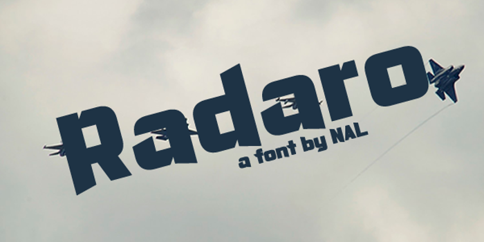 Radaro Font poster