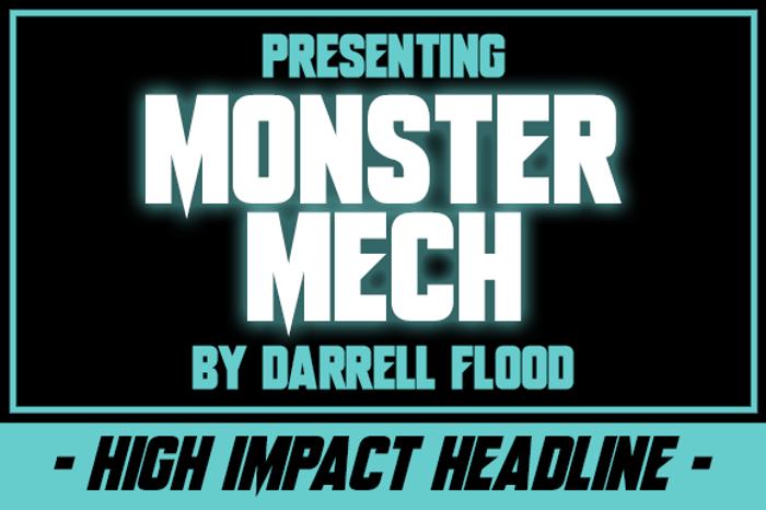 Monster Mech Font poster