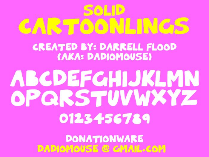 Solid Cartoonlings Font poster