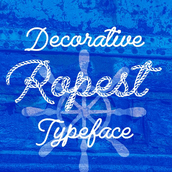 Ropest Font poster