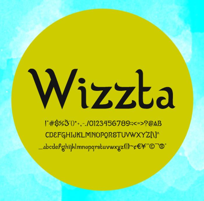 Wizzta Font poster