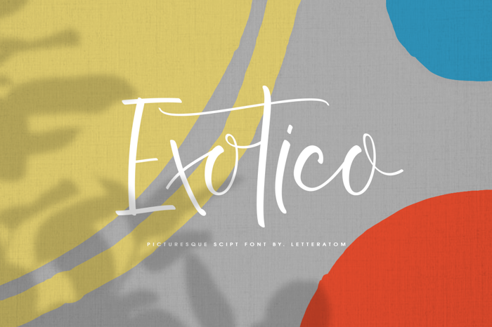Exotico Font poster