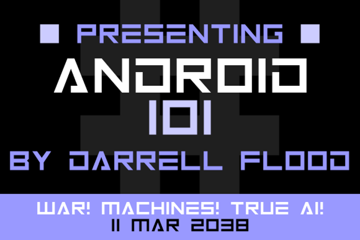 Android 101 Font poster