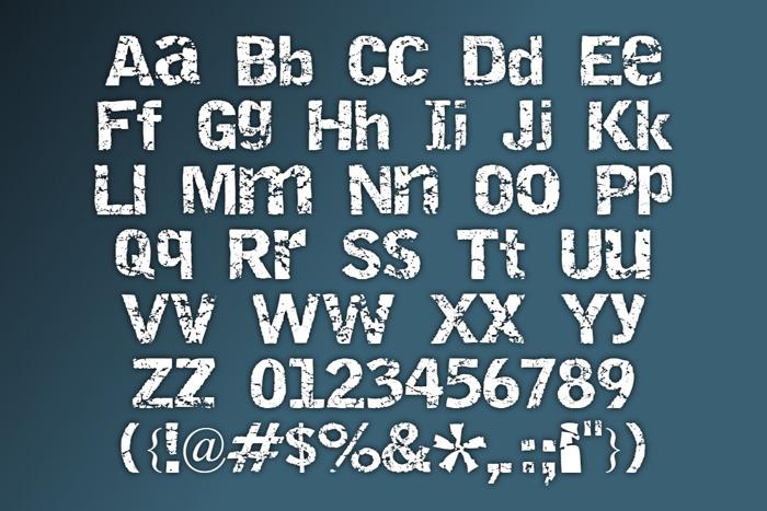 Destroy Font poster