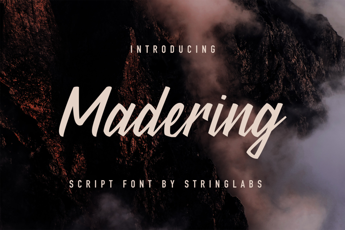 Madering Font poster