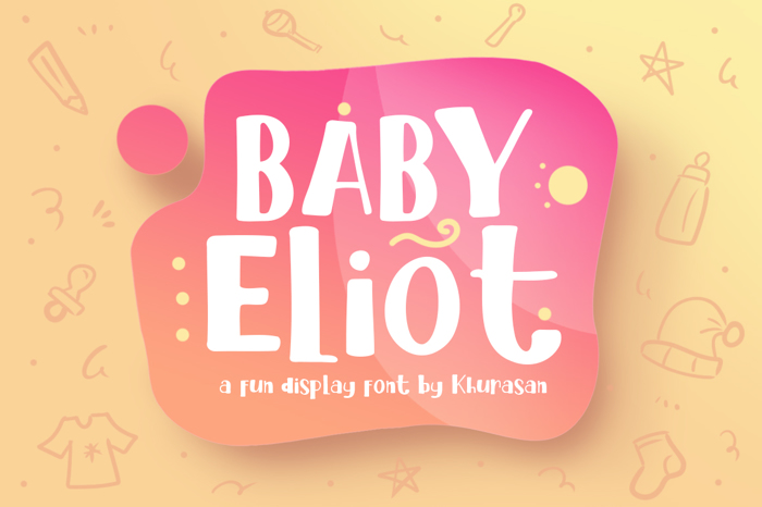 Baby Eliot Font poster