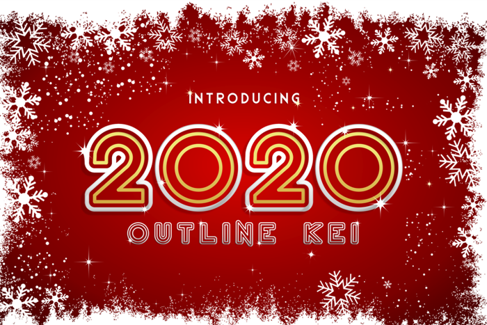 2020 Outline Kei Font poster