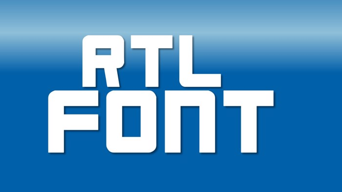 RTL Font poster