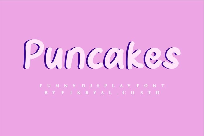 Puncakes Font poster