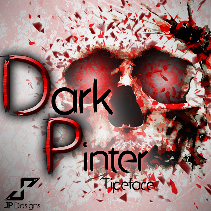 Dark Pinter Font poster