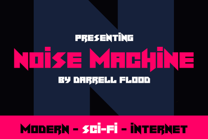 Noise Machine Font poster