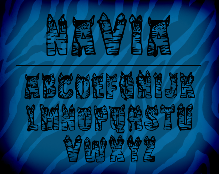 CF NaVia Font poster