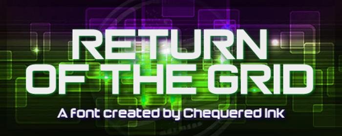 Return of the Grid Font poster