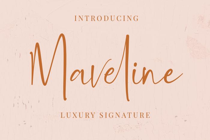 Maveline Font poster