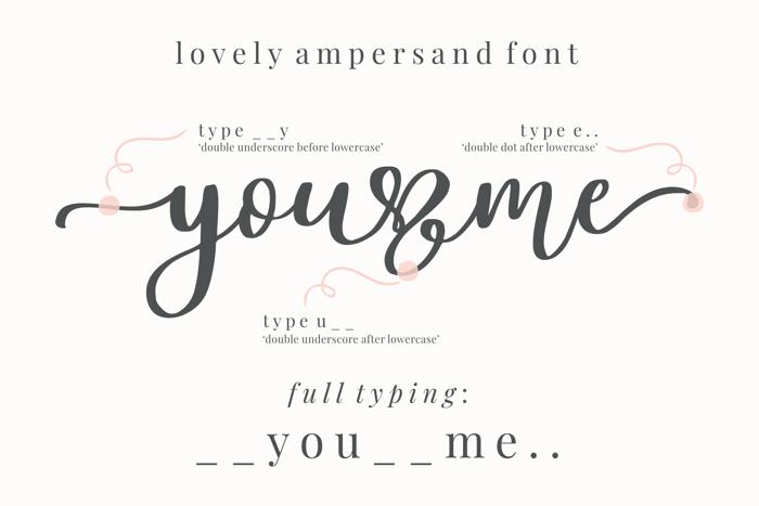 Lovely Ampersand Font poster