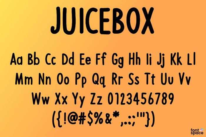 JUICEBOX Font poster